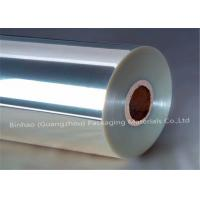China Clear Transparent BOPP Pearlized Film Stretch Wrap / Cigarette Pallet Wrap wholesale