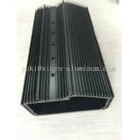 China Semi Bright Black Anodized Aluminium Box Aluminum Structural Framing With Tapping And CNC Drilling wholesale