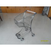 Quality Free duty shop 40L Supermarket Shopping Trolley / Carts , Airport Shopping Trolley for sale