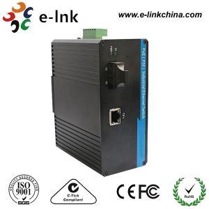 China 1 Port 10/100M POE Industrial Ethernet To Fiber Media Converter Din Rail Mount wholesale