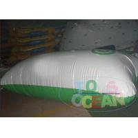 China White And Green Inflatable Water Game Pillow Water Launch Blob wholesale