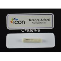 Quality 3D Epoxy Domed Coated Personalised Name Badges For Nurses / Kids for sale