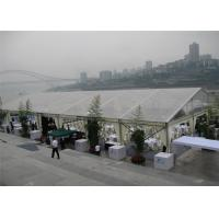 China White 15m x 30m Aluminum Frame Tent Transparent PVC Fabric For Commercial Activities on sale