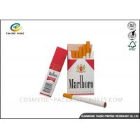China Double Colors Cigarette Packaging Box Biodegradable Featuring Matt Lamination wholesale