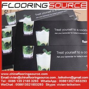 China Foam-backed Counter Mats Bar Mats Light-Duty foam base polyester top custom printed wholesale