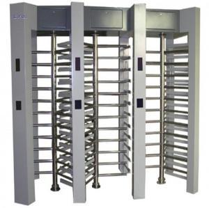 China 3 Lane Full Height Turnstile Gate 120 Degree Remote Control Turn Style Door wholesale