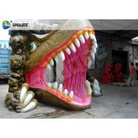 China Dinosaur House 5D Movie Theater With Outside Cabin Box , Luxury Electric 9 Seats System wholesale
