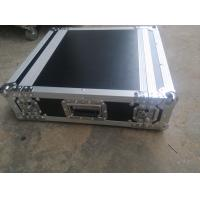 China Black Color 2 U Rack case , 2 U Flight Case With 9 MM Thickness Plywood Road Case wholesale