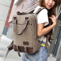 China Vintage Unisex College Student Backpack 2 In 1 Use With A Lot Of Pockets  wholesale