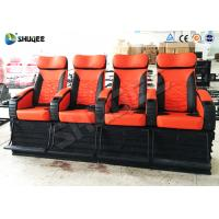 China Electric System 4D Movie Theater 120 Red Color Seats For Shopping Center wholesale