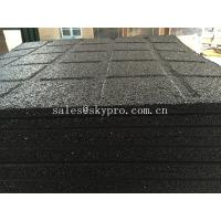 China Anti-slip black rubber pavers crumb flooring for Playground / garden / park wholesale