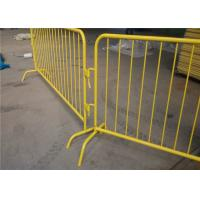 Buy cheap Used traffic barrier removable crowd control barrier for event road safety from wholesalers