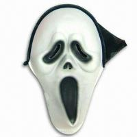 China EVA Ghost Mask with 100% Polyester Cloth Hood wholesale