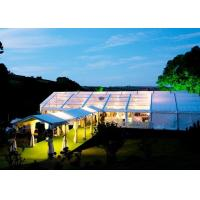 China Portable Wedding Canopy Tent 3-50 M Width Polyester Textile With Plywood Floor on sale