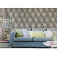 Northern Europe Style Embossed Surface Regular Pattern Wallpaper For Sofa