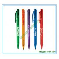 China chromed pusher retractable plastic ball point pen from china factory wholesale