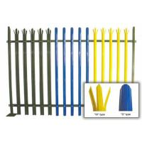 Quality Durable W Section Green Palisade Fencing , Single Point Road Security Fence for sale