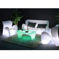 Buy cheap Rechargeable Led Plastic Outdoor Led Lighted Sofa Lounge PE Illuminated Modern Design Sofa from wholesalers