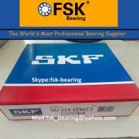 China Double Row Cylindrical Roller Bearing SKF NU319 ECM Brass Cage wholesale