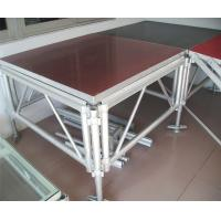 Quality Red 3 - Level Plywood Aluminum Stage Platform With Anti - Slip Board for sale