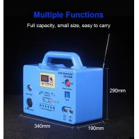 China 20W Home solar power lighting system solar generator with MP3 player FM radio 4 LED Bulb wholesale
