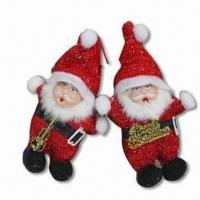 China Santa Claus Toys, Made of 100% Polyester, Available in Red wholesale