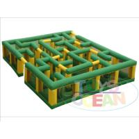 China Large Outdoor Inflatable Sport Game Entertainment Corn Maze Labyrinth Laser Tag wholesale
