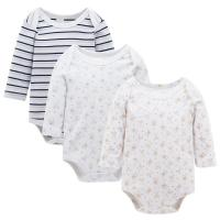 China Long sleeve 3 Pack Baby Romper Set Children Apparel With 100% Cotton bodyvest wholesale