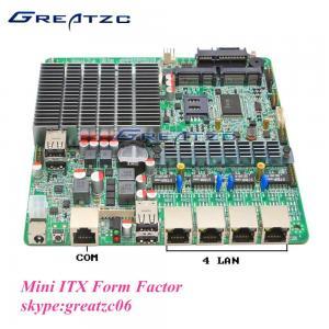 China MINI Fanless Quad LAN J1800 Motherboard 2 SATA INTEL Bay Trail Motherboard wholesale
