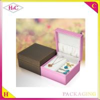 China Luxury pu leather box for jewelry packaging gift box wholesale
