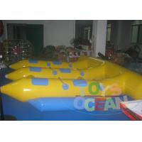 China PVC Crazy Inflatable  Water Game Yellow Flying Fish For 6 Players CE EN14960 wholesale