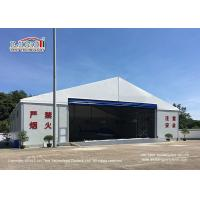 China Waterproof And Flame Retardant Cover Aircraft Hangar Tent With Auto Roll Up Door / 25m Width Aluminum Frame wholesale