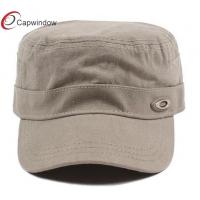 Quality Girly Simple Flat Top Military Baseball Hats Blank Baseball Caps With Velcro Closure for sale