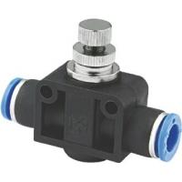 Quality One Way Pneumatic Flow Control Valves For Connecting To Male Plug In Connections for sale