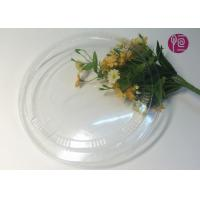 China 26oz Round Flat Soup Disposable Plastic Lids In BOPS Material / BPA Free wholesale
