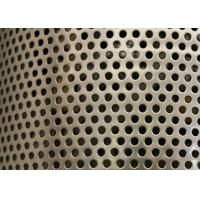 Buy cheap Sliver Galvanized Perforated Metal Mesh ISO9001 Approval 2mm Round Hole from wholesalers