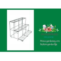 China Versatile Garden Plant Accessories , Durable Black Outdoor Metal Flower Plant Pot Stand wholesale