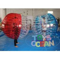 Quality 1.0mm PVC Inflatable Bumper Ball Soccer Bubble For Football Game 1 Year Warranty for sale