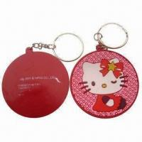 China Promotional Keychain with Soft PVC (Nontoxic) Component, Available in 2D and 3D Type wholesale