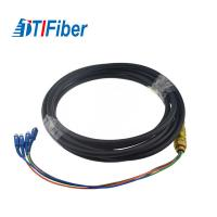 China 4-24 Cores Single Mode Pigtail , Customized Optical Fiber Pigtail Black Cable wholesale