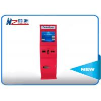 China Windows wireless advertising touch screen cash kiosk machines with sheet metal shell wholesale
