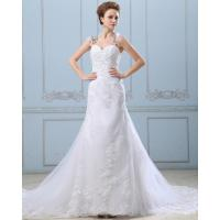 China Lace Flower Strapless sweetheart neckline Wedding Gowns with open back wholesale