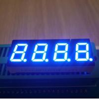 China Instrument Panel 0.4 Inch 4 Digit 7 Segment Led Display Ultra Bright Blue Emitting Color wholesale