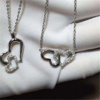 China Piaget double love of diamonds necklace 18kt  gold  with white gold or yellow gold or pink gold wholesale