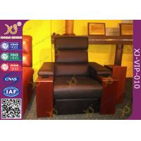 China Cinema Room Chairs Home Theater Sectional Couch Pushing Back Recliner Sofa wholesale