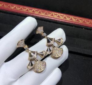 China sophisticated 18K Gold Diamond Earrings , Bulgari Divas Dream Earrings wholesale
