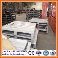 China heavy duty galvanized steel pallet/stainless steel pallet for sale(manufacturer) wholesale
