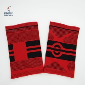 China 3D nylon spandex elastic knit compression knee brace support wholesale