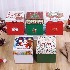 China Panton Color Printing 300gsm Christmas Apple Gift Candy Box on sale