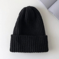 China Candy Colors Winter Hat Women Knitted Hat Warm Soft Trendy Hat Kpop Style Wool Beanie wholesale